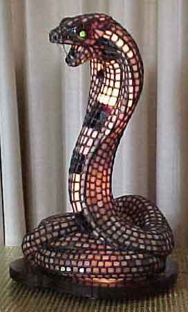 Cobra Lamp :  art art glass stained glass stained glass lamp